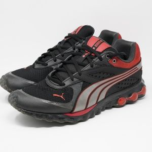 Puma BioCell Lace Running Shoes Size 10 Black Red